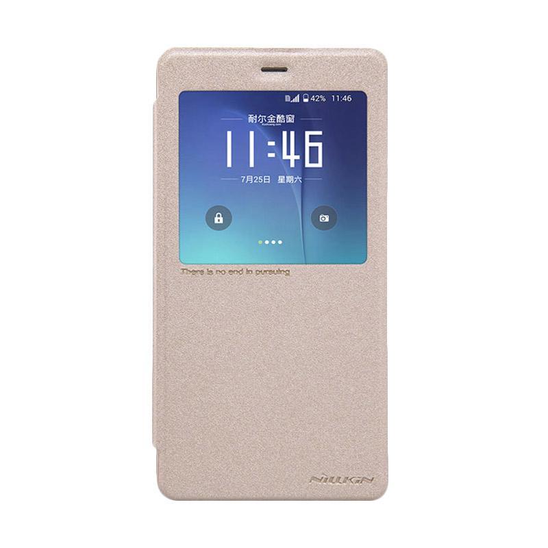Nillkin Original Sparkle Flip Cover Casing for Xiaomi MI Note or Redmi Pro - Gold