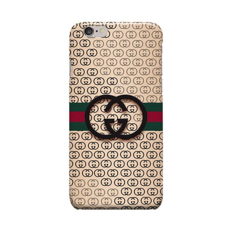 Indocustomcase Gucci Logo Cover Casing for Apple Iphone 6 Plus or 6S Plus