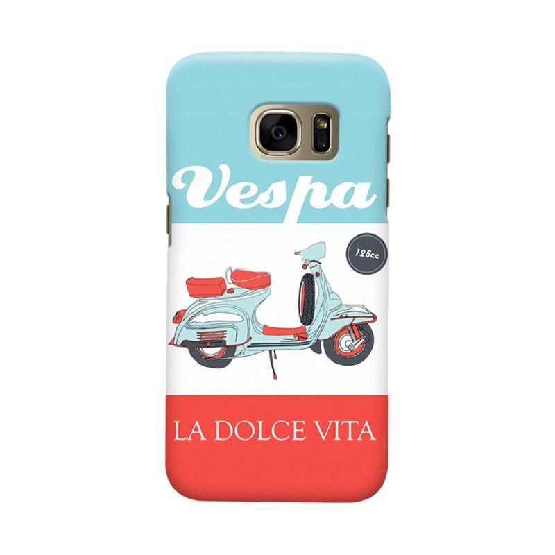 Indocustomcase Vespa La Dolce Vita Casing for Samsung Galaxy S6