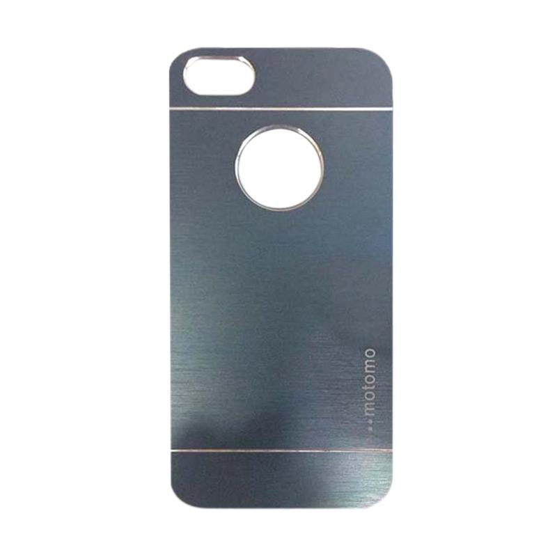 Motomo Metal Hardcase Backcase Casing for Apple iPhone 6 Plus or Iphone 6 5.5 Inch - Dark Blue