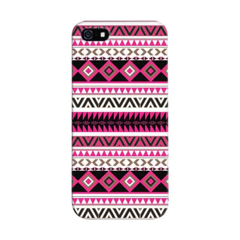 Indocustomcase Tribbal Aztec Custom Hardcase Casing for Apple iPhone 5/5S/SE