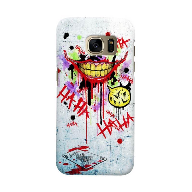 Indocustomcase Batman Joker Art RB Cover Casing for Samsung Galaxy S6