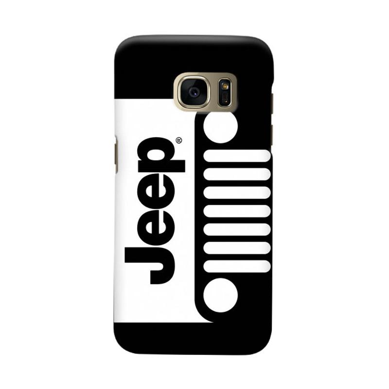Indocustomcase Jeep Black White Casing for Samsung Galaxy S7 Edge