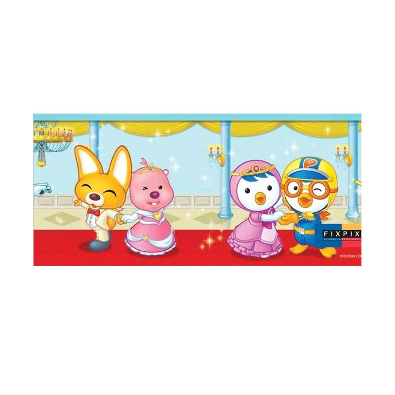 Hyundae Fixpix PT 11773 Pororo Dancing Border Sticker Dekorasi Dinding [12 cm x 4 m]