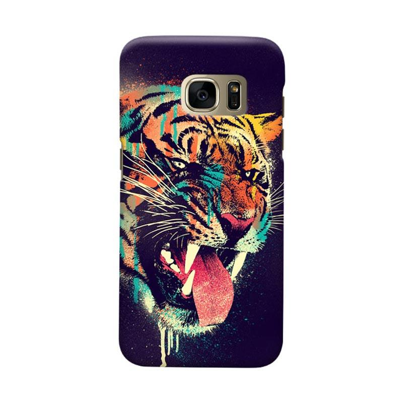 Indocustomcase Felicius Tiger Cover Casing for Samsung Galaxy S6 Edge