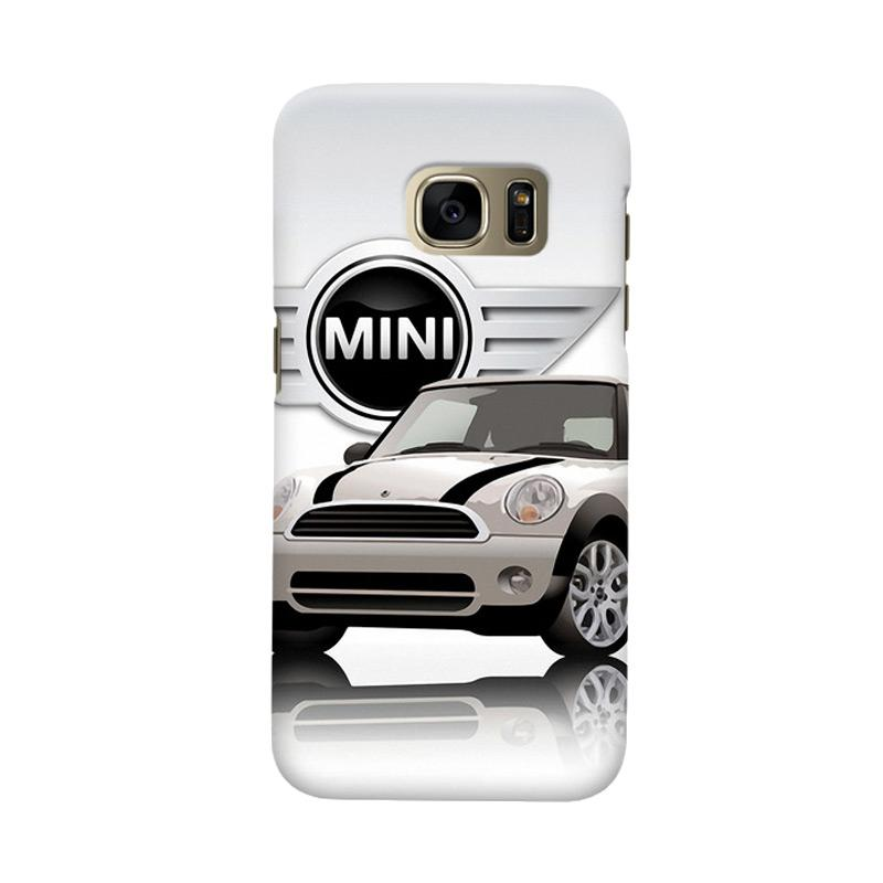 Indocustomcase White Mini Cooper Cover Casing for Samsung Galaxy S6
