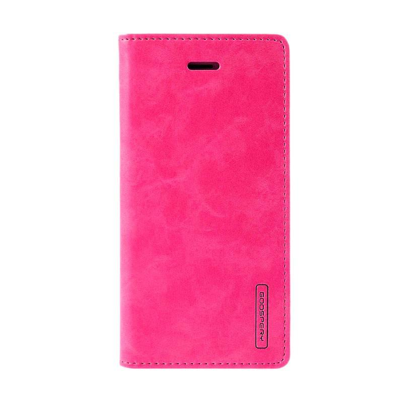 Mercury Goospery Bluemoon Flip Cover Casing for Samsung Galaxy J1 Ace - Hot Pink
