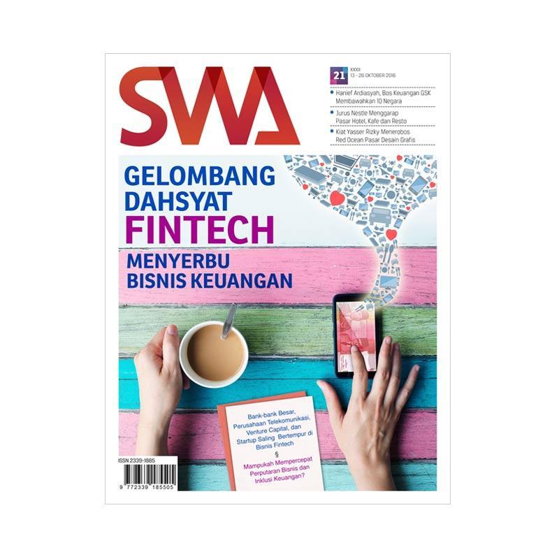 SWA Gelombang Dahsyat Fintech Menyerbu Bisnis Keuangan Edisi 21-2016 13 Oktober-26 Oktober 2016 Majalah