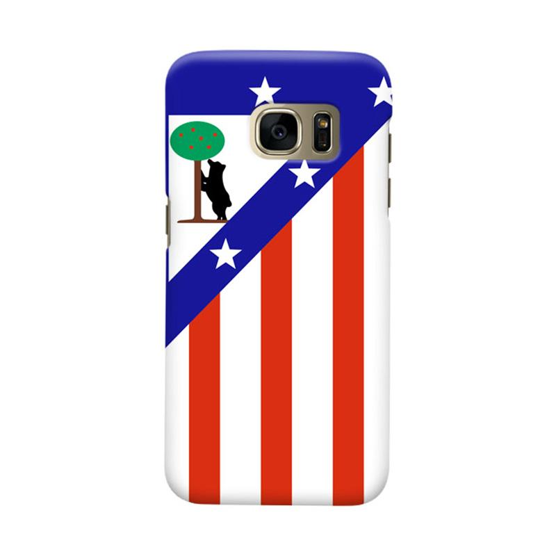 Indocustomcase Atletico Madrid Cover Casing for Samsung Galaxy S7 Edge