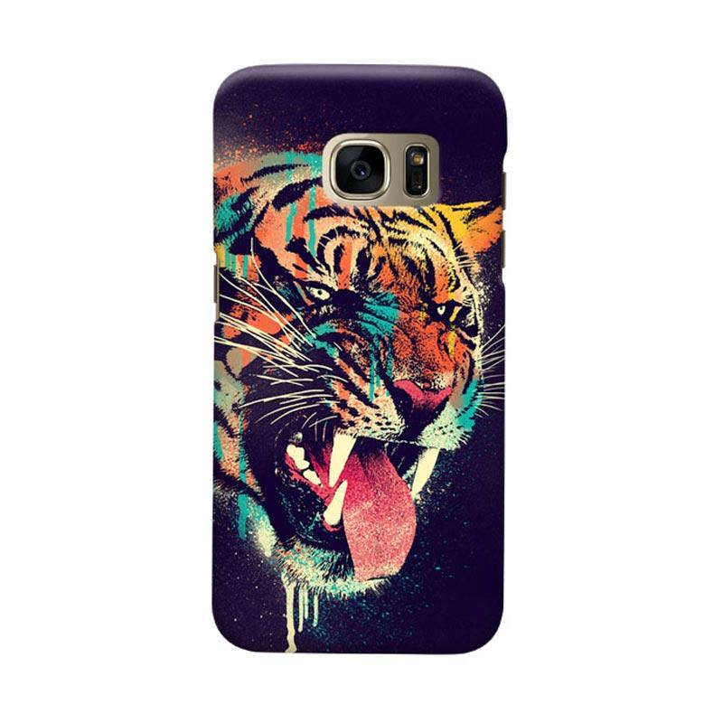 Indocustomcase Felicius Tiger Cover Casing for Samsung Galaxy S7 Edge