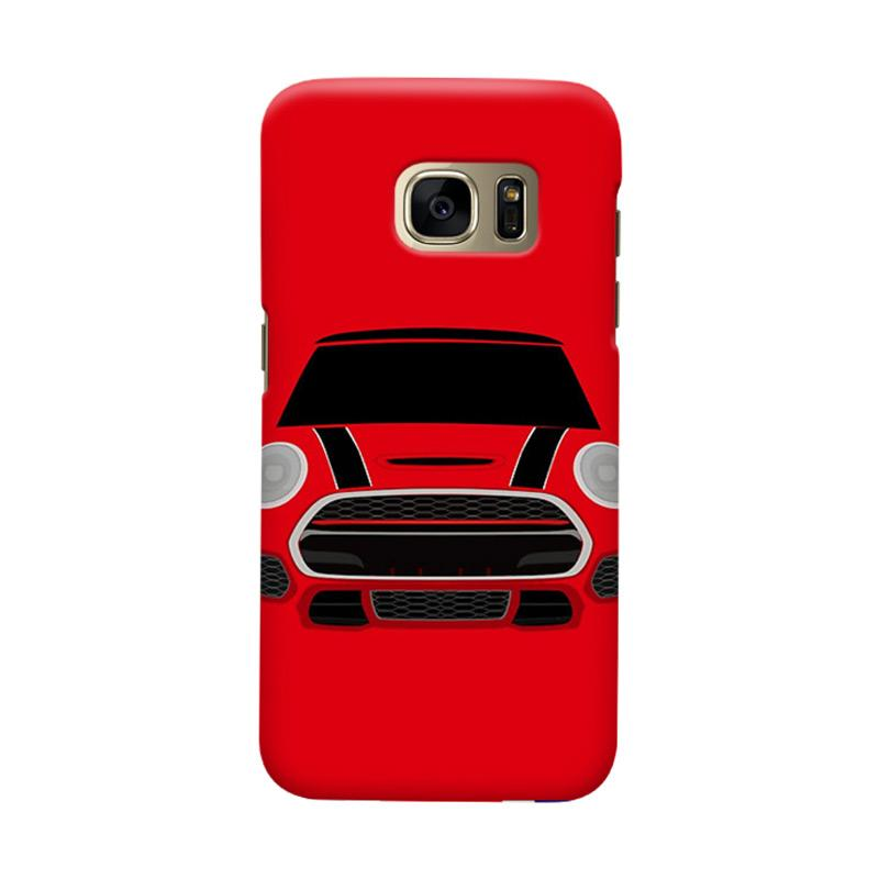 Indocustomcase Red Mini Cooper RT Cover Casing for Samsung Galaxy S6