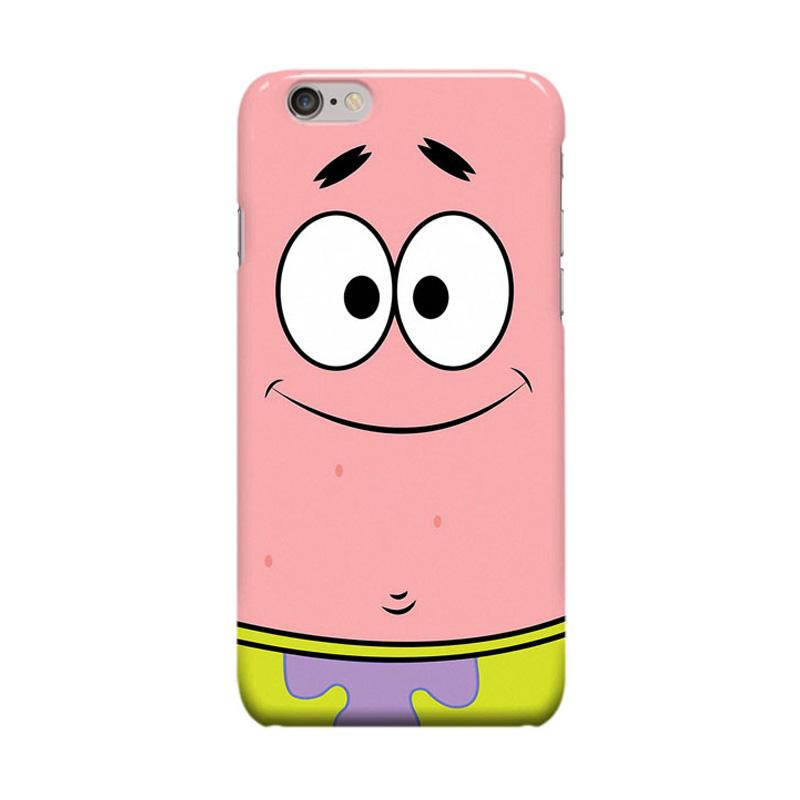Indocustomcase Cartoon Patrick Casing for Apple iPhone 6 Plus or 6S Plus