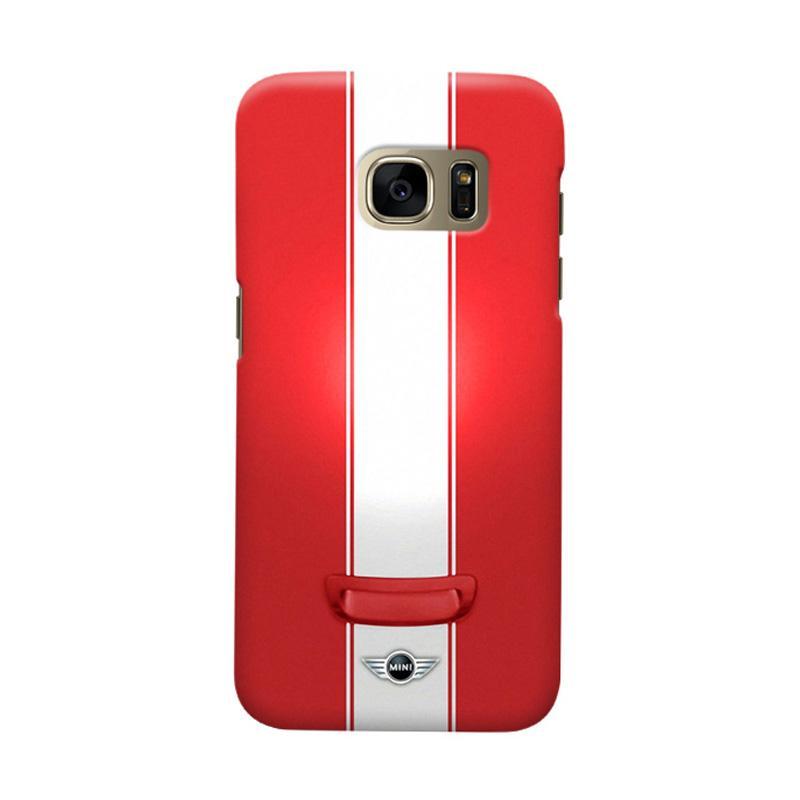 Indocustomcase Red Mini Cooper Casing for Samsung Galaxy S6 Edge