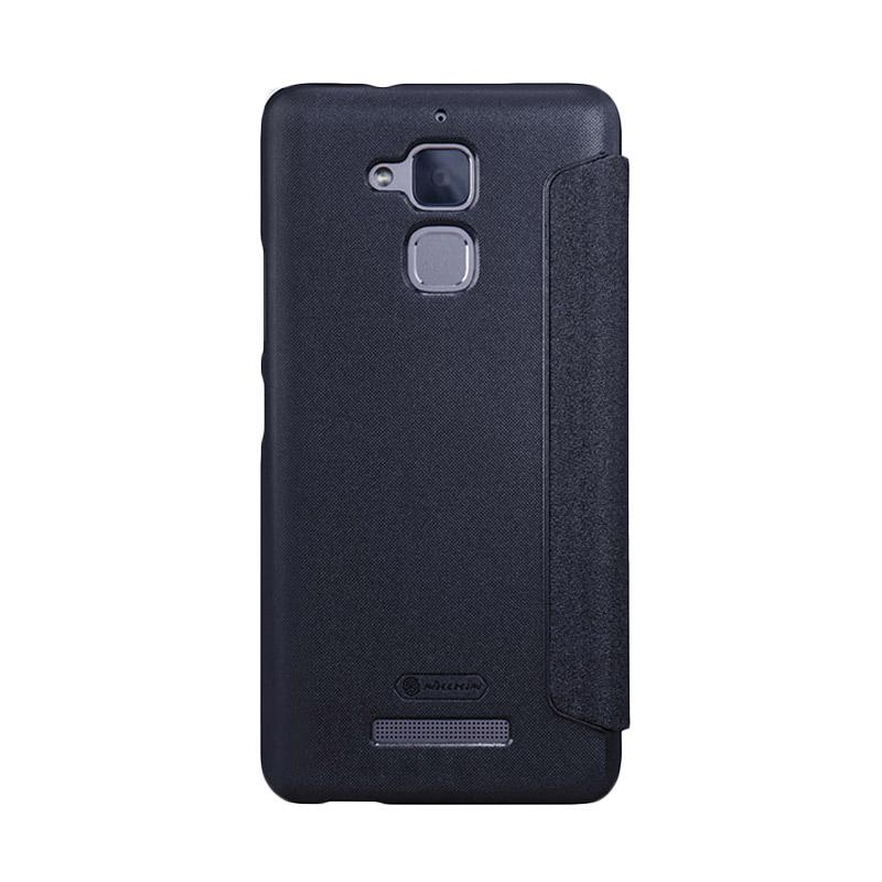 Nillkin Original Sparkle Leather Flip Cover Casing for Asus Zenfone 3 Max 5.2 Inch - Black