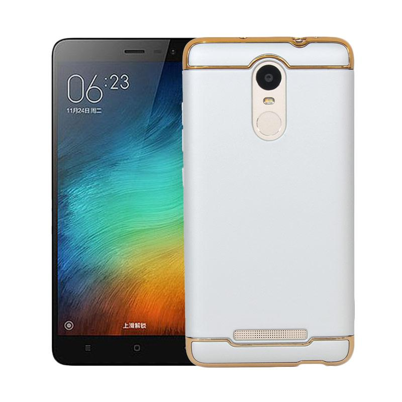 Casing XIAOMI REDMI NOTE 3 / PRO - 3 in 1 Plated PC Frame Bumper with Frosted Hard Back Case SILVER