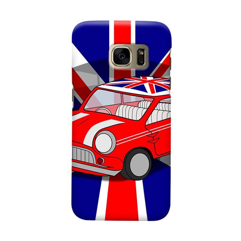 Indocustomcase Mini Cooper UK Flag Cover Casing for Samsung Galaxy S6