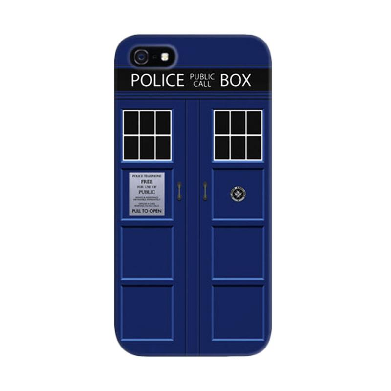 Indocustomcase Tardis Doctor Who Police Public Call Custom Hardcase Casing for Apple iPhone 5/5S/SE