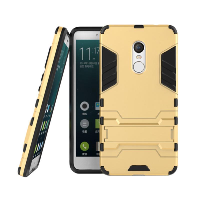 OEM Elegant Transformer Robot Iron Man Casing for Xiaomi Redmi Note 4X Snapdragon - Gold
