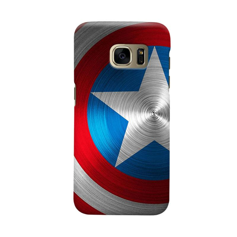 Indocustomcase Shield Of America Cover Casing for Samsung Galaxy S6 Edge