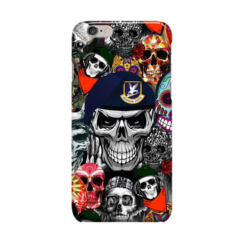 Indocustomcase Skull Society Cover Casing for iPhone 6 Plus or 6S Plus