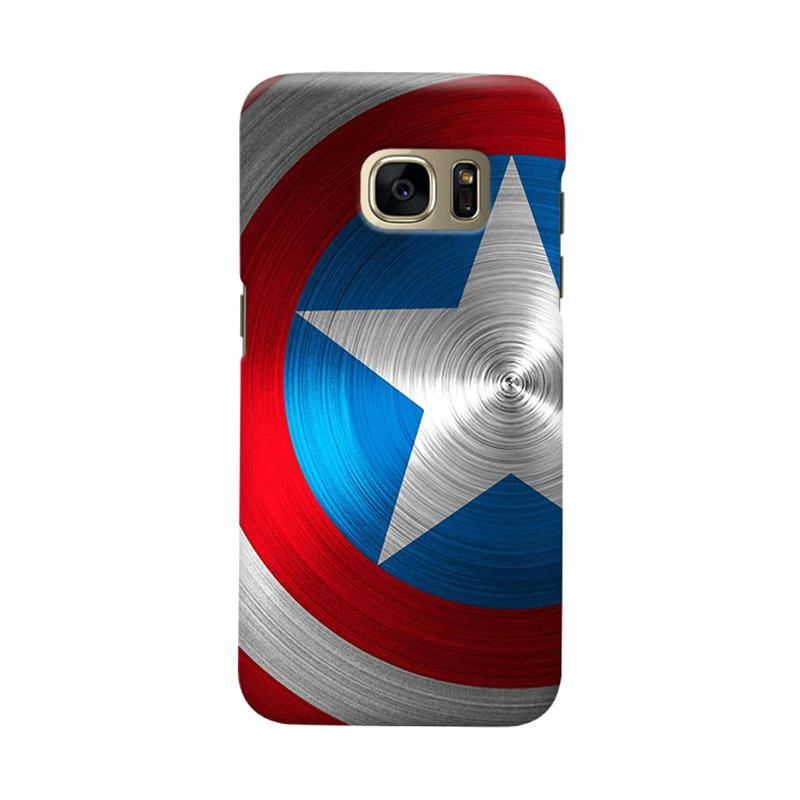 Indocustomcase Shield Of America Casing for Samsung Galaxy S7 Edge