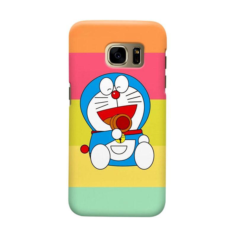 Indocustomcase Doraemon Lough Cover Casing for Samsung Galaxy S7 Edge