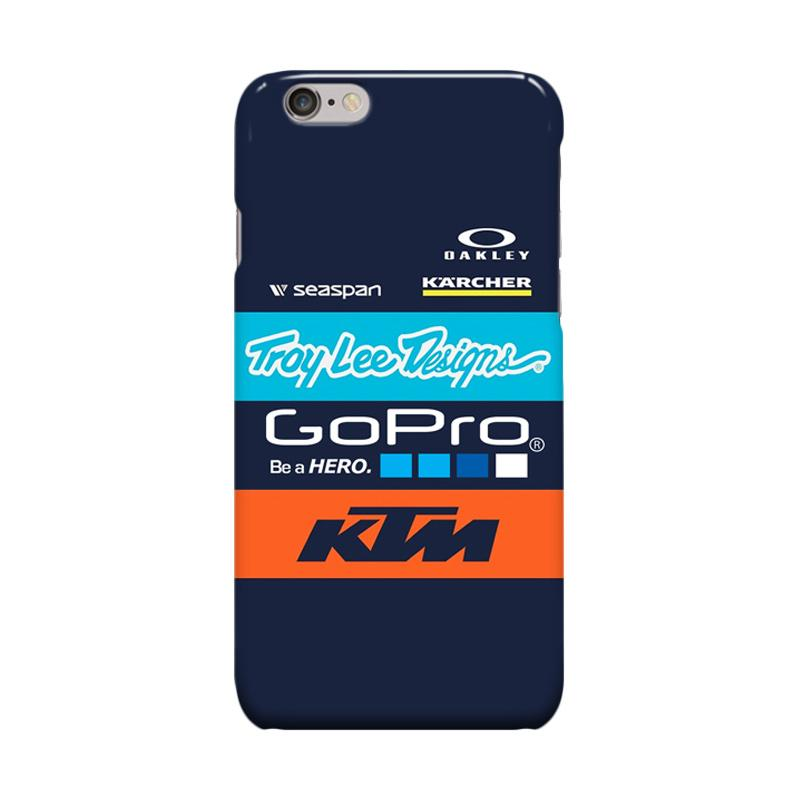 Indocustomcase KTM Gopro Racing Casing for Apple iPhone 6 Plus or 6S Plus