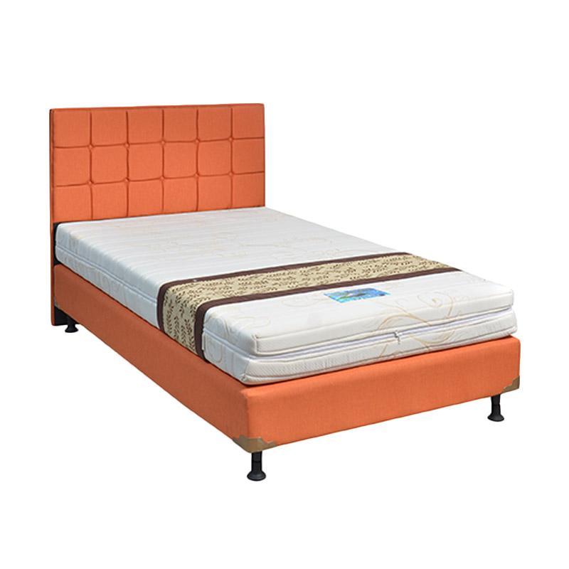 Saveland Foam HB Sydney Kasur Springbed - Sweet Orange [Fullset/Khusus Jabodetabek]