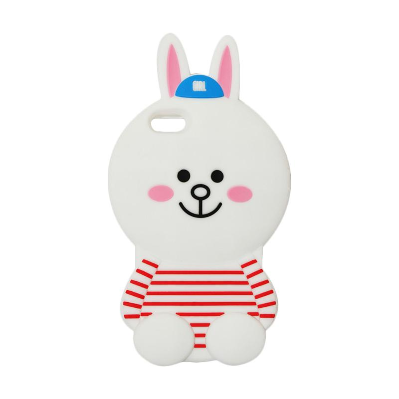 VR Karakter 3D Cony Line Edition Silicon Softcase Casing for Apple iPhone 6/6G/6S 4.7 Inch - White