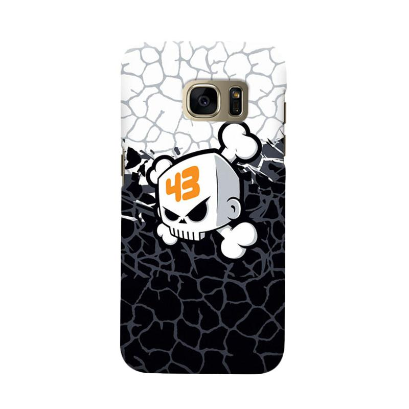 Indocustomcase Ken Block Skull Cover Casing for Samsung Galaxy S6 Edge