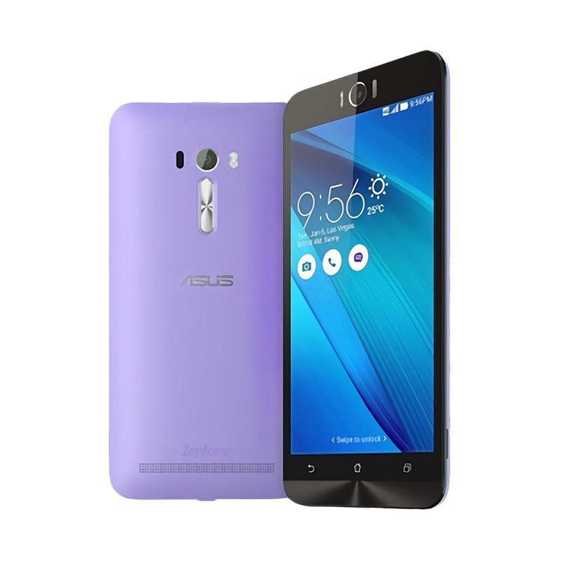 Ultrathin Aircase Casing for Asus Zenfone Laser 5 Inch - Purple Clear [Best Seller]