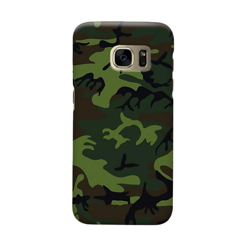 Indocustomcase Army Camoflauge Cover Casing for Samsung Galaxy S7 Edge