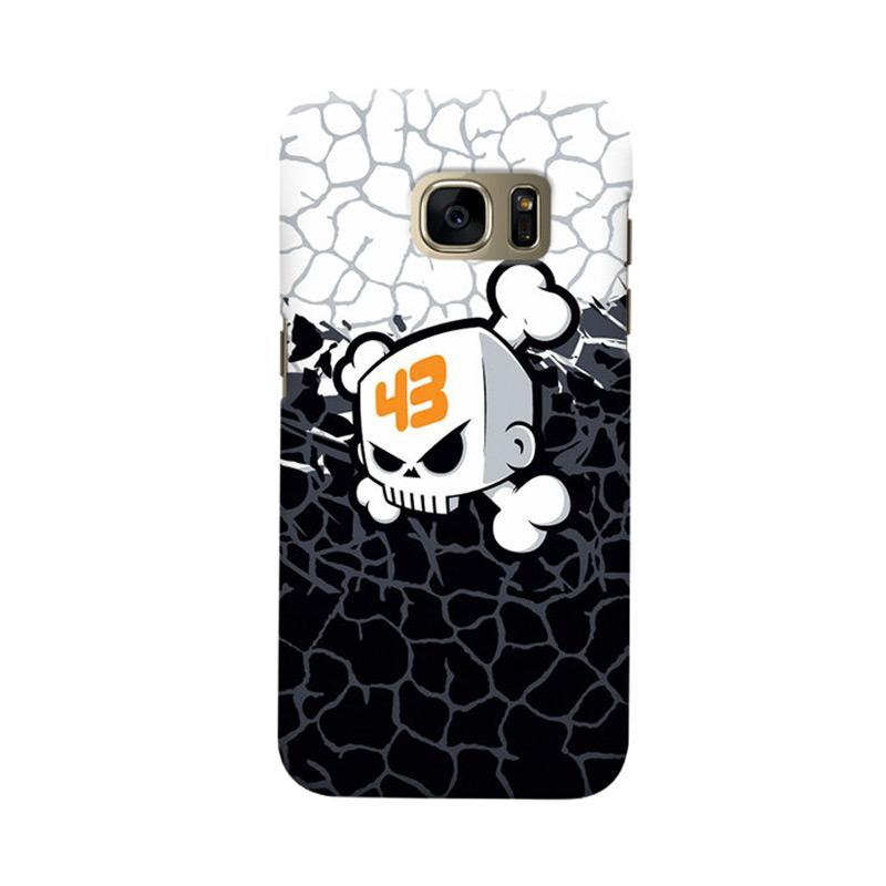 Indocustomcase Ken Block Skull Cover Casing for Samsung Galaxy S7 Edge