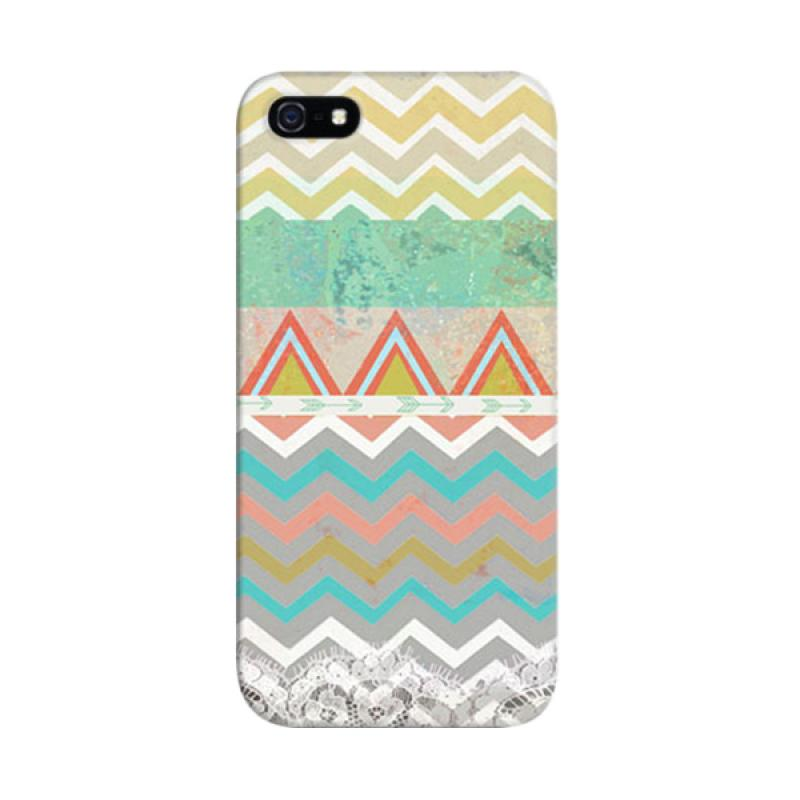 Indocustomcase Chevron Mint Custom Hardcase Casing for Apple iPhone 5/5S/SE