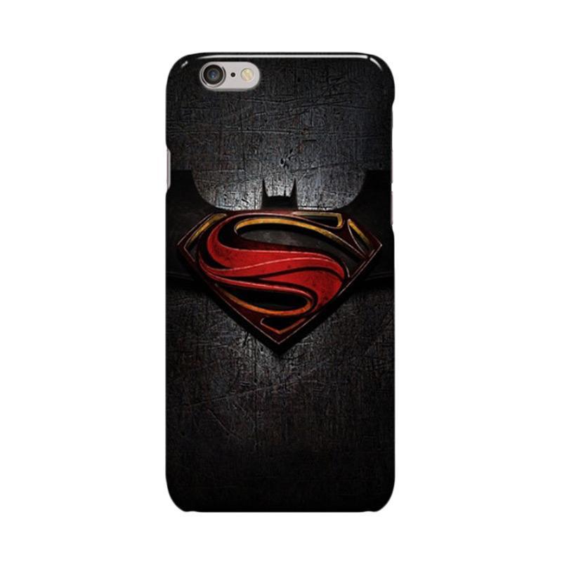 Indocustomcase Superman Batman Cover Casing for iphone 6 Plus or 6S Plus