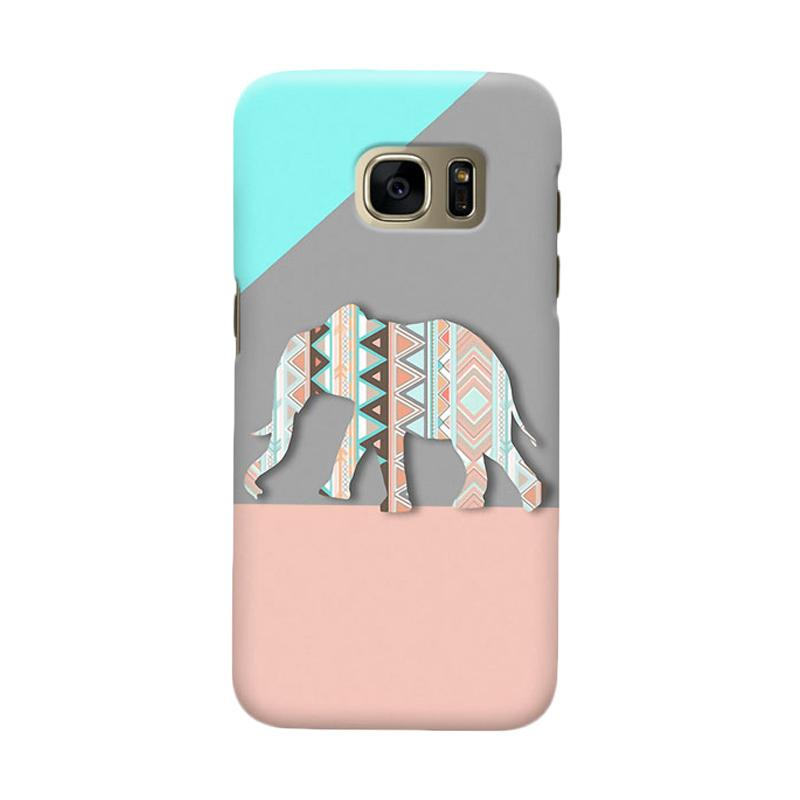 Indocustomcase Tribal Elephant Cover Casing for Samsung Galaxy S6 Edge