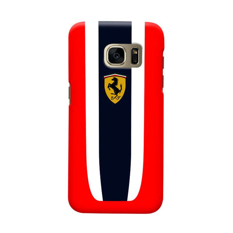Indocustomcase Ferarri Logo IDC01 Cover Casing for Samsung Galaxy S7 Edge