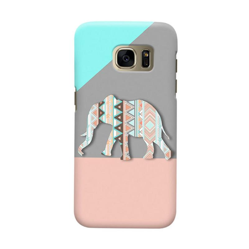 Indocustomcase Tribal Elephant Cover Hardcase Casing for Samsung Galaxy S7 Edge