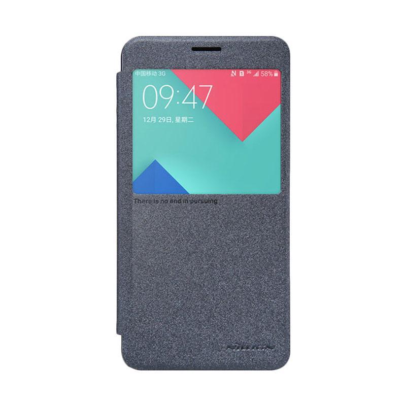 Nillkin Original Sparkle Leather Flip Cover Casing for Samsung Galaxy A5 Plus - Black