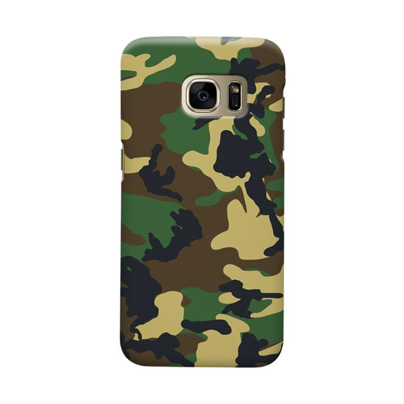 Indocustomcase Army Camoflauge 2 Cover Casing for Samsung Galaxy S7 Edge