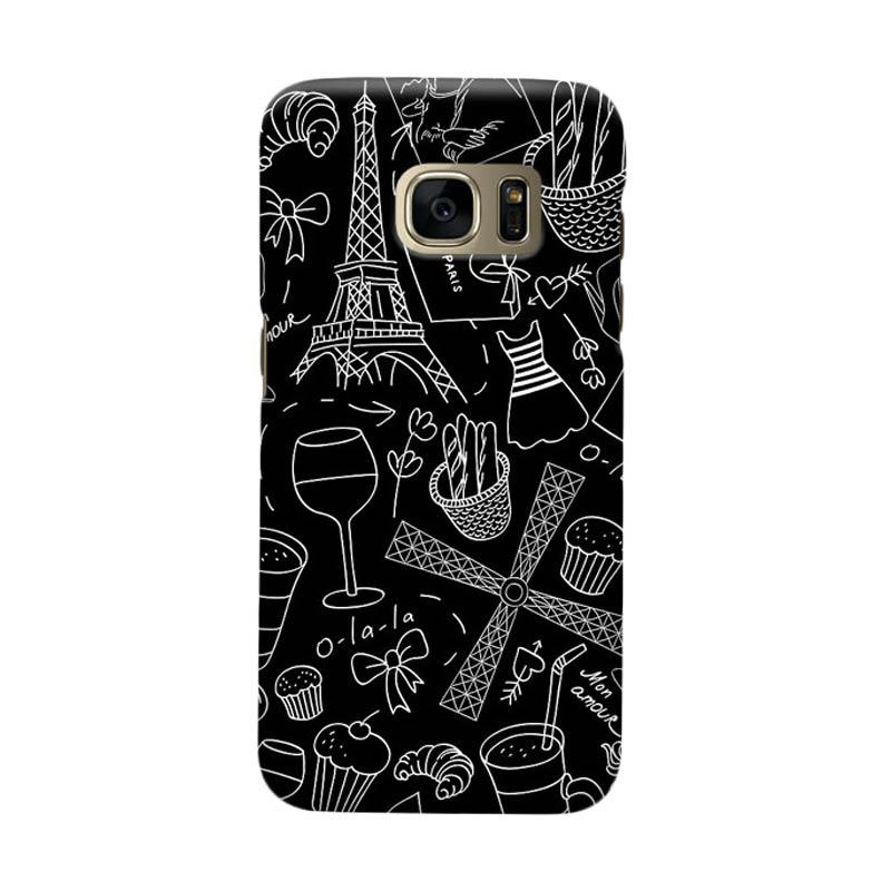 Indocustomcase Paris Soft Art Casing for Samsung Galaxy S6 Edge