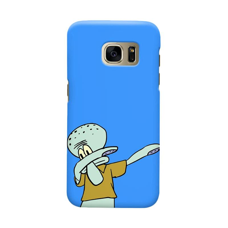 Indocustomcase Cartoon Squidward Dap Cover Casing for Samsung Galaxy S6