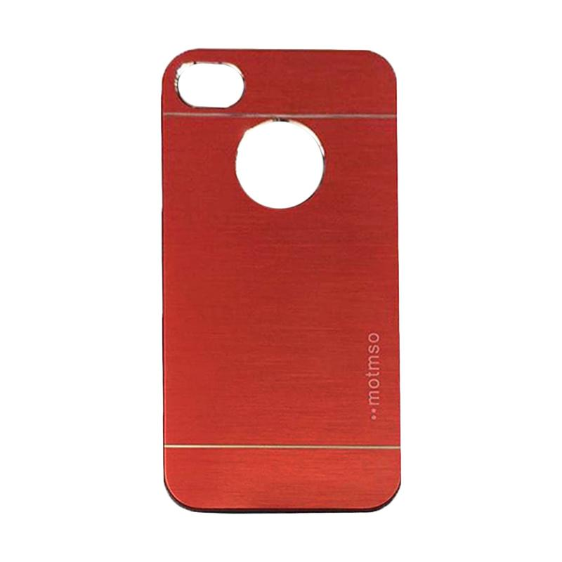 Motomo Metal Hardcase Backcase Casing for Apple iPhone 5/ iPhone 5/ iPhone 5G/ iPhone 5S/ 5SE - Red