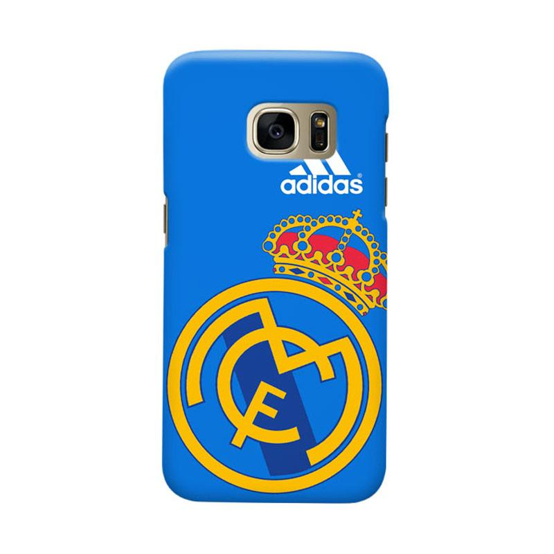 Indocustomcase Real Madrid FC RMA08 Cover Casing for Samsung Galaxy S7 Edge