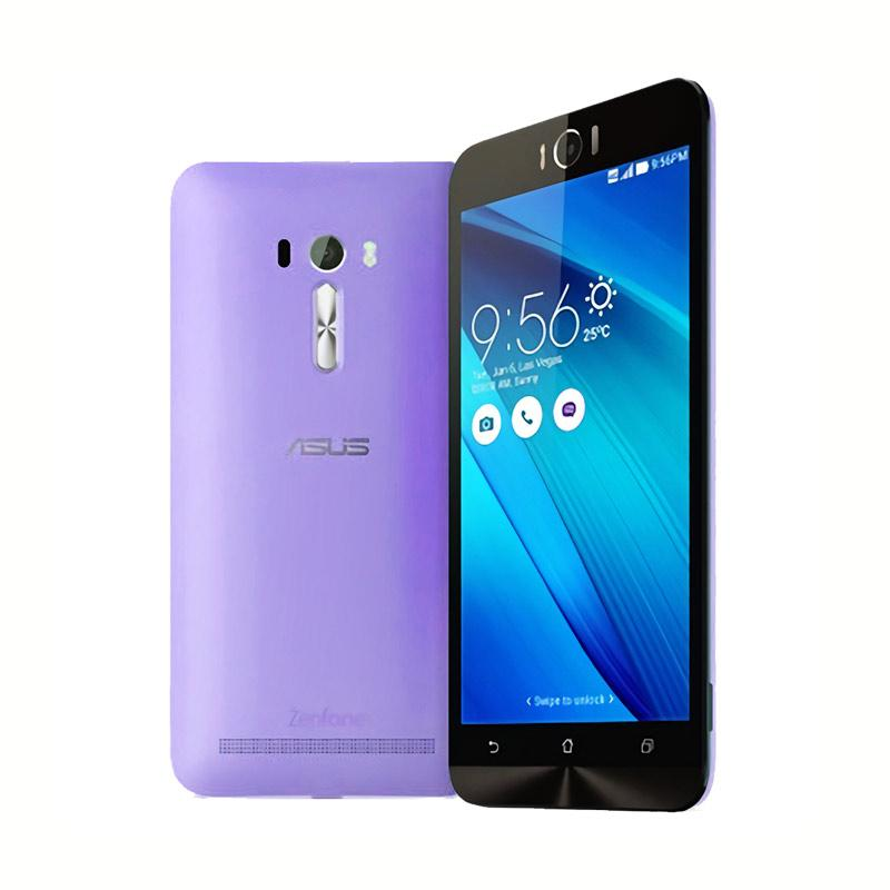 Ultrathin Aircase Casing for Asus Zenfone Laser 5.5 Inch - Purple Clear [Best Seller]