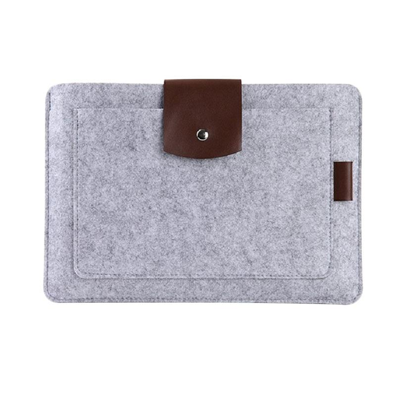 Cooltech Premium Soft Wool Felt Sleeve Case Notebook Cover for Macbook 13 Inch - Grey
