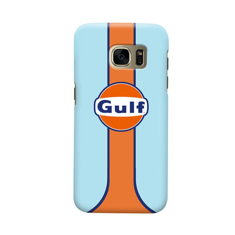 Indocustomcase Gulf Racing Logo Cover Casing for Samsung Galaxy S6 Edge