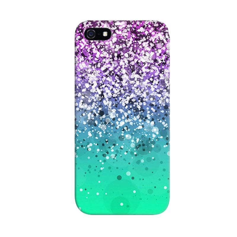 Indocustomcase Glitter Mint Custom Hardcase Casing for Apple iPhone 5/5S/SE