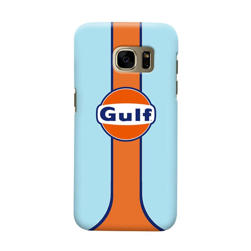 Indocustomcase Gulf Racing Logo Cover Casing for Samsung Galaxy S7 Edge