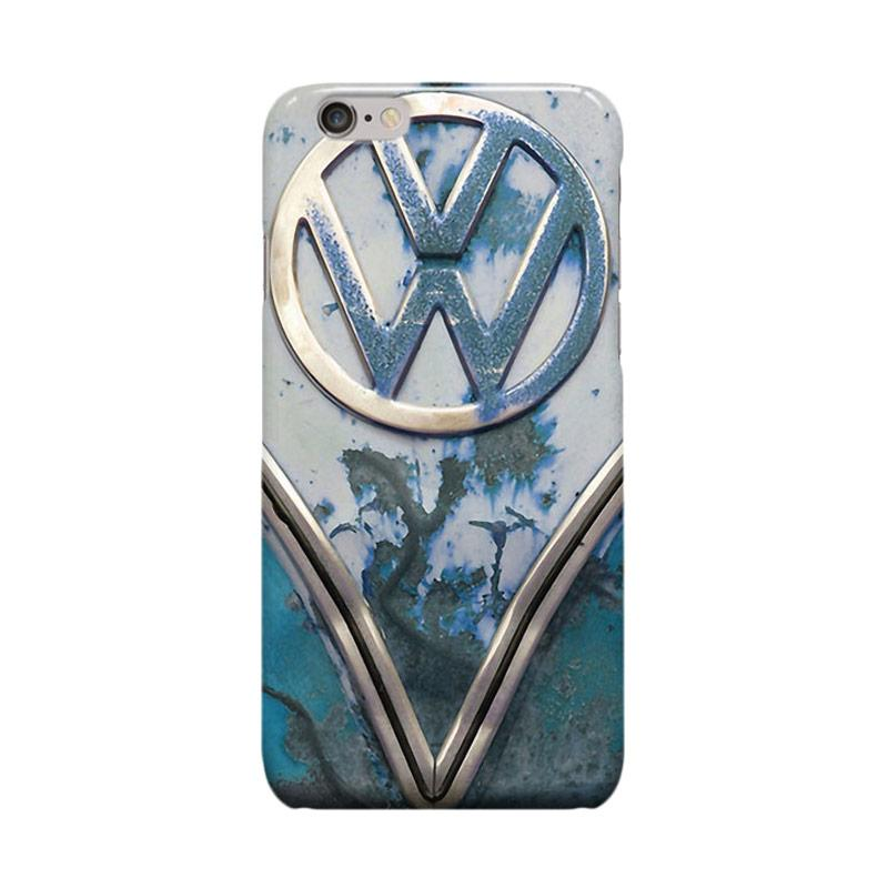 Indocustomcase VW Cover Casing for iPhone 6 Plus or 6S Plus - Blue Rusty